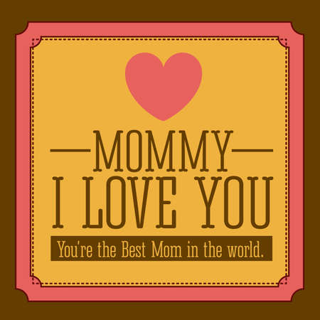 Mothers  day design over brown  background, vector illustration Vector