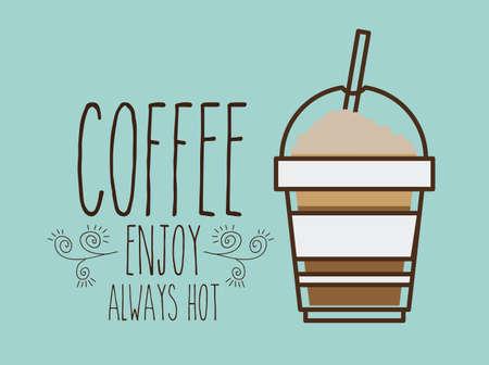 fag: Coffee design over blue background, vector illustration