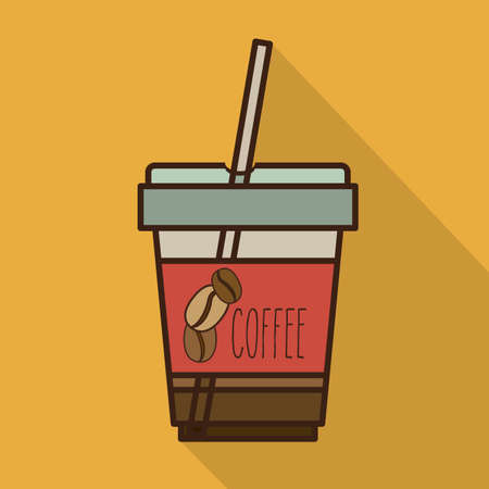 fag: Coffee design over yellow background, vector illustration