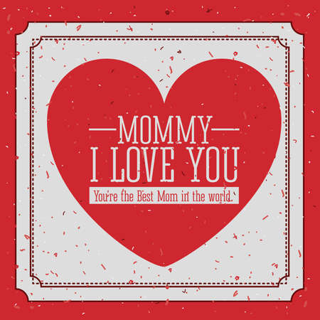 Mothers day design over red background, vector illustration Vector