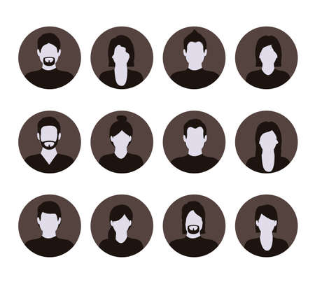 socializando: Dise�o de la red social m�s de fondo blanco, ilustraci�n vectorial Vectores