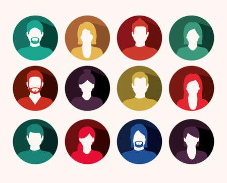 socializando: Dise�o de la red social m�s de fondo, ilustraci�n vectorial