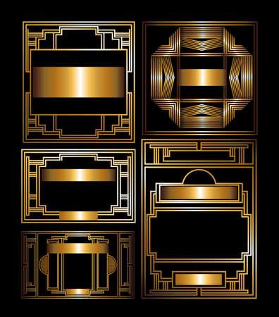 黒の背景、ベクトル イラスト ギャツビー設計
