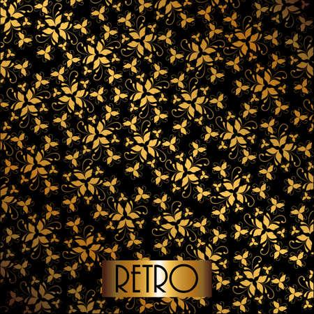 roaring: Gatsby design over black background, vector illustration