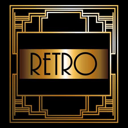Gatsby design over black background, vector illustration Vector