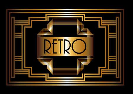 Gatsby design over black background, vector illustration