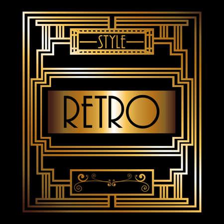 crisscross: Gatsby design over black background, vector illustration