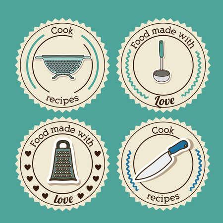 foodstuff: Foodstuff design over blue background, vector illustration Illustration
