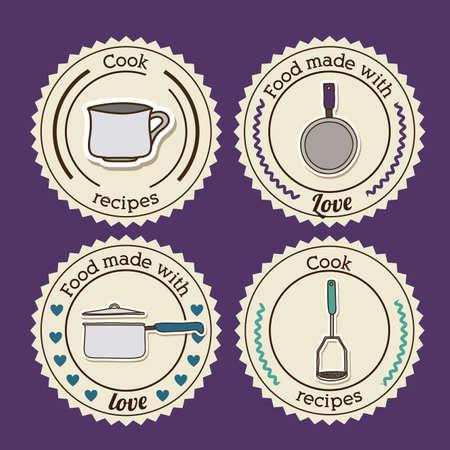 foodstuff: Foodstuff design over purple background, vector illustration