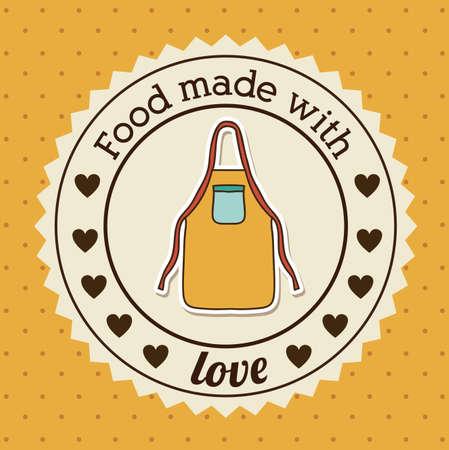 foodstuff: Foodstuff design over yellow background, vector illustration