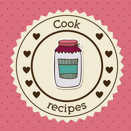 foodstuff: Foodstuff design over pink background, vector illustration