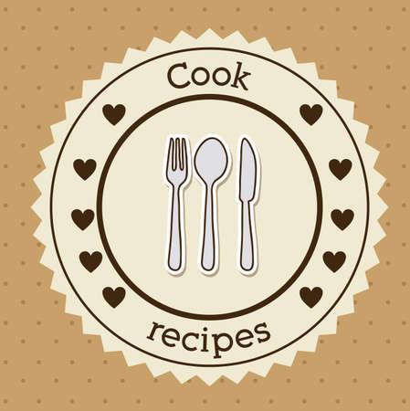 foodstuff: Foodstuff design over brown background, vector illustration