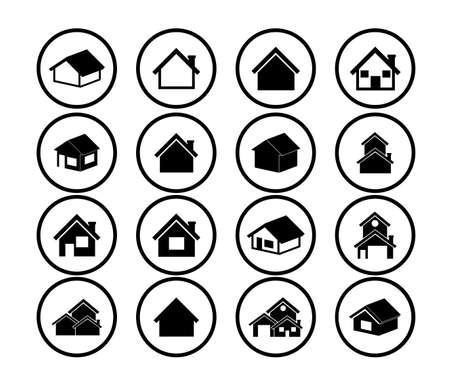 house icon: Home design over white background, vector illustration Illustration