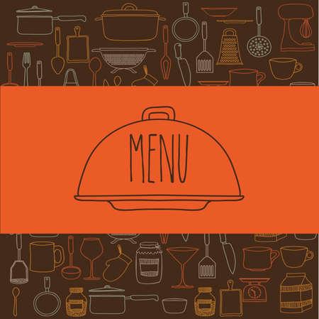 cook book: Cook book design over brown background ,vector illustration Illustration
