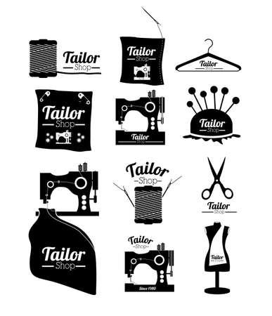 Tailor shop design over white background, vector illustration Illustration