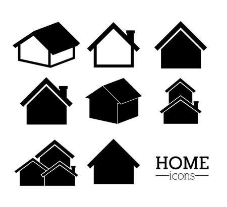 hometown: Home design over white background, vector illustration Illustration