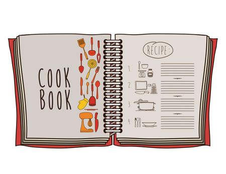 Cook book design over white background ,vector illustration Vector
