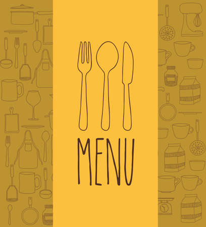 cook book: Cook book design over yellow background ,vector illustration