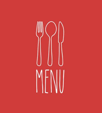 Cook book design over red background ,vector illustration
