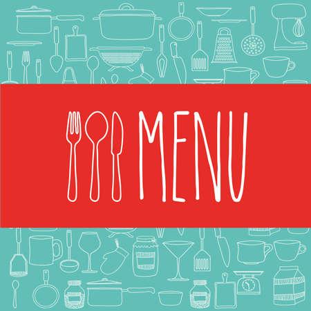 cook book: Cook book design over blue background ,vector illustration
