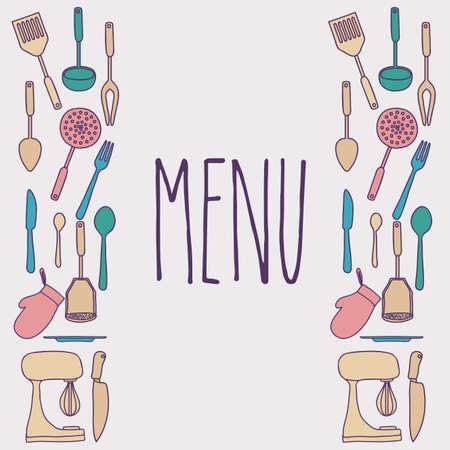 Cook book design over gray background ,vector illustration Vector