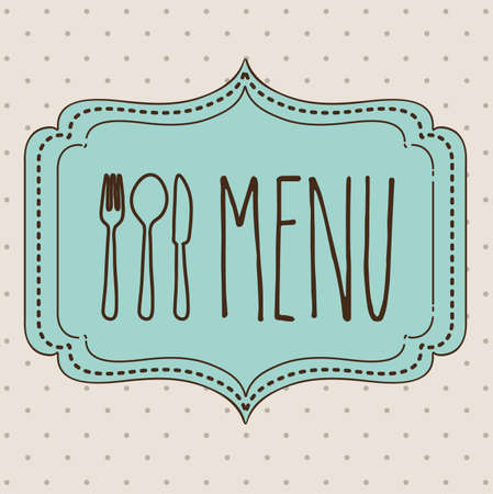 cook book: Cook book design over beige background ,vector illustration Illustration