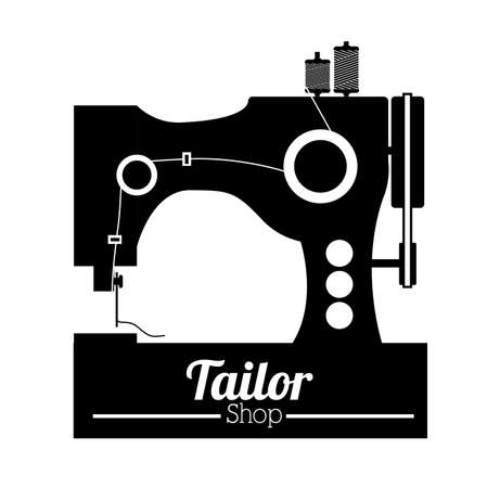 Tailor shop design over white background, vector illustration Vector