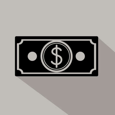 Money design over gray background, vector illustration Vector