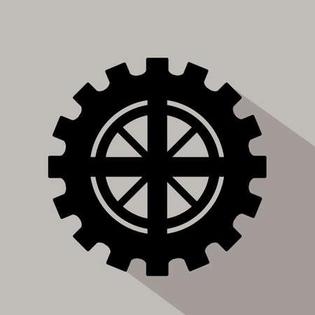 Gear design  over gray background, vector illustration Illustration