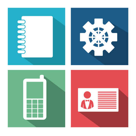 miscellaneous: Miscellaneous icons design over colorful background,vector illustration
