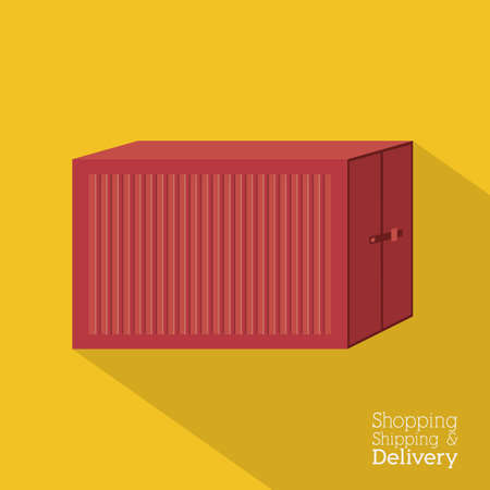 article marketing: Delivery design over yellow background,vector illustration