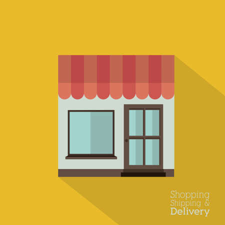 Delivery design over yellow background,vector illustration Stock Vector - 28487647