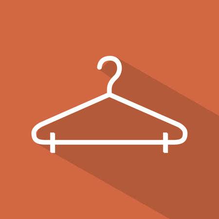 Hanger design over orange background, vector illustration