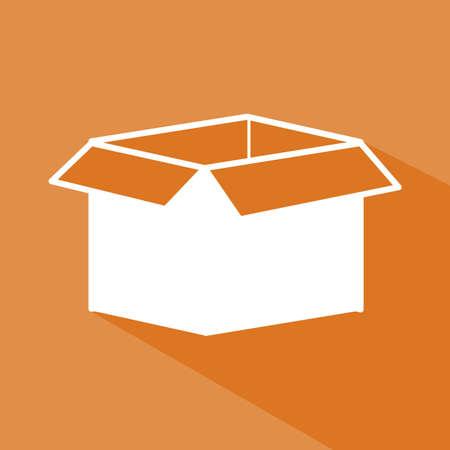 Delivery design over orange background,vector illustration Stock Vector - 28487799