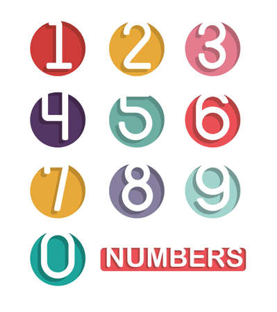 Numbers design over white background, vector illustration