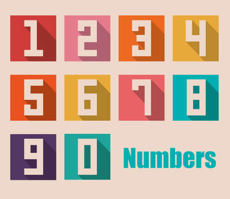 number icons: Numbers design over beige background, vector illustration Illustration