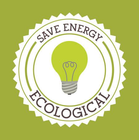 enviromental: Ecology design over green background, vector illustration
