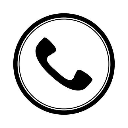 Telephone design over white background, vector illustration