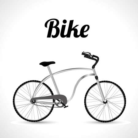 cruiser bike: Bike design over white background, vector illustration, Illustration