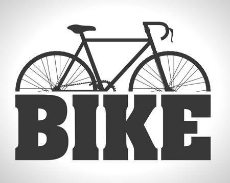 Bike design over white background, vector illustration, Çizim