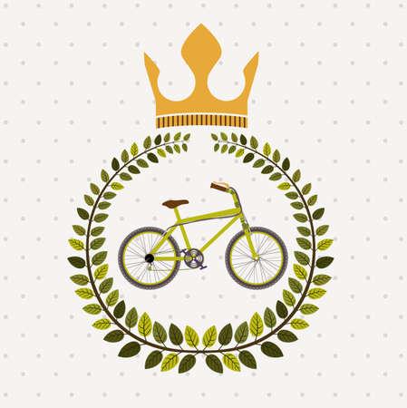 Bike design over white background, vector illustration, Ilustrace