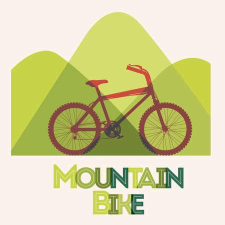 Bike design over white background, vector illustration Vector