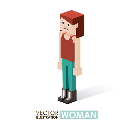 Human design over white background, vector illustration Vector