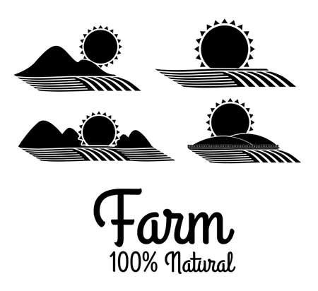seeding: Farm design over white background, vector illustration