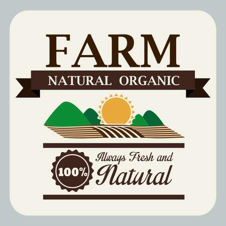 seeding: Farm design over gray background, vector illustration Illustration