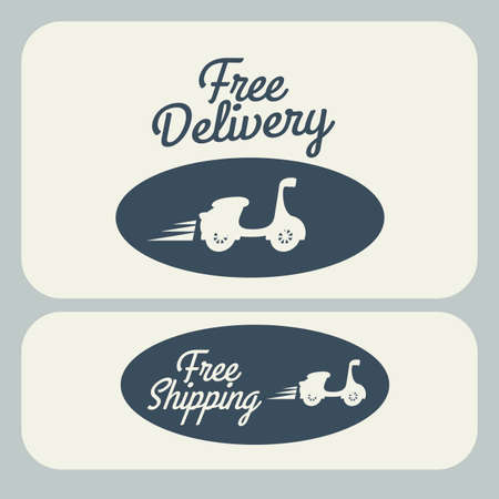 Delivery design over gray background, vector illustration Stock Vector - 28490346