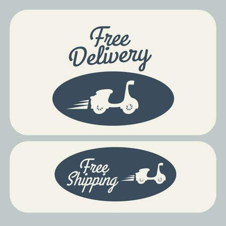 article marketing: Delivery design over gray background, vector illustration Illustration