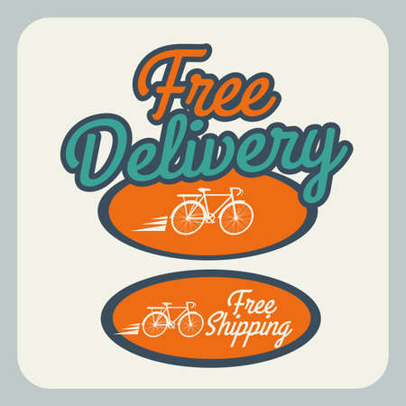 Delivery design over gray background, vector illustration Stock Vector - 28490347