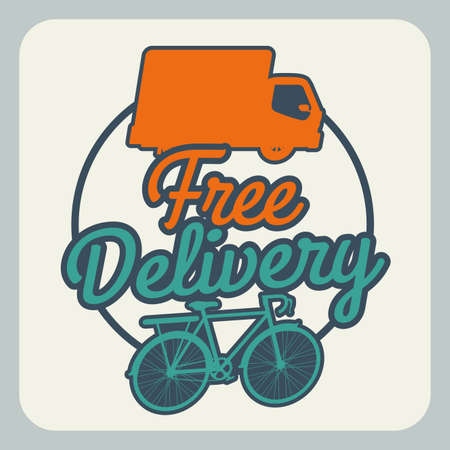 Delivery design over gray background, vector illustration Stock Vector - 28490350