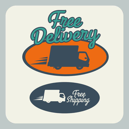Delivery design over gray background, vector illustration Stock Vector - 28490361